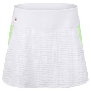 Women`s Lime Light Tennis Skort White and Melon