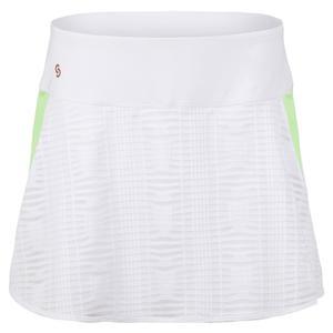 Women`s Lime Light Tennis Skort White and Melon