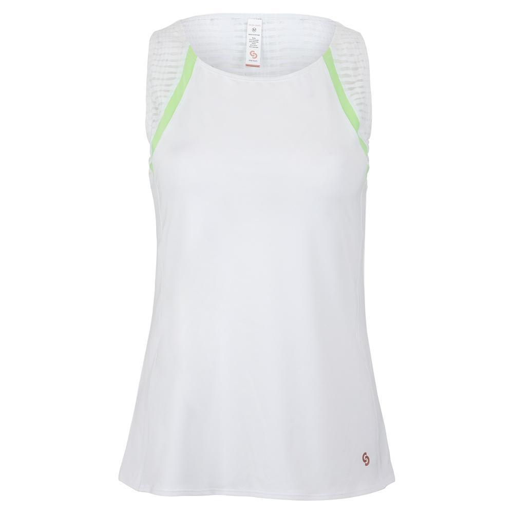 Women's Lime Light Tennis Tank White