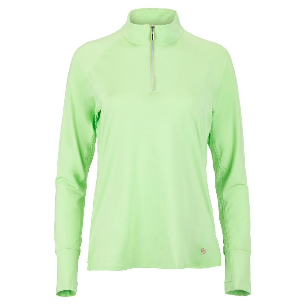 Women's Lime Light Long Sleeve Tennis Top Melon