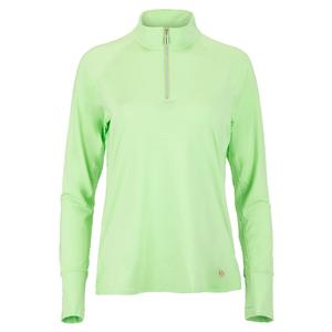 Women`s Lime Light Long Sleeve Tennis Top Melon