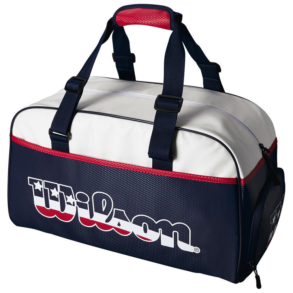 Usa Tennis Duffle Bag Blue And White