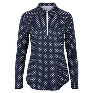 Women`s UV Long Sleeve Tennis Polo Cape May Dot