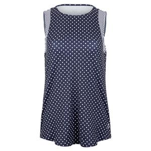 Women`s Scoop Tennis Tank Cape May Dot