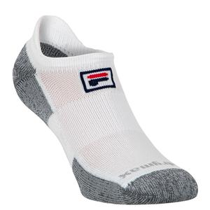 No Show Tab Tennis Socks White
