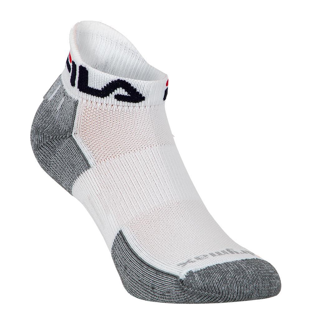 Low Cut Tab Tennis Socks White