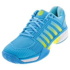 Women`s Express Light Pickleball Shoes Aquarius and Neon Citron