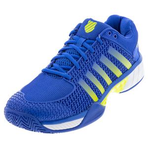 Men`s Express Light Pickleball Shoes Strong Blue and Neon Citron