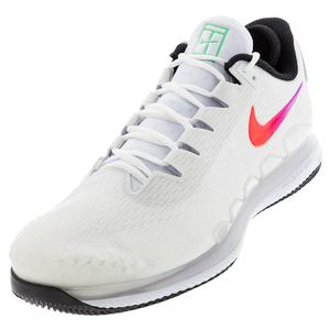 Men`s Air Zoom Vapor X Knit Tennis Shoes Summit White and Black