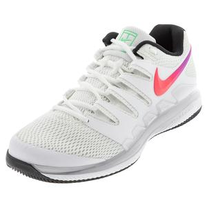 Men`s Air Zoom Vapor X HC Tennis Shoes Summit White and Black