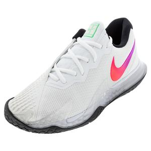 Men`s Air Zoom Vapor Cage 4 Tennis Shoes Summit White and Black