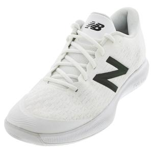 Men`s 996v4 D Width Tennis Shoes White and Iridescent