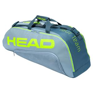 Tour Team Extreme 6R Combi Tennis Bag Grey and Neon Yellow