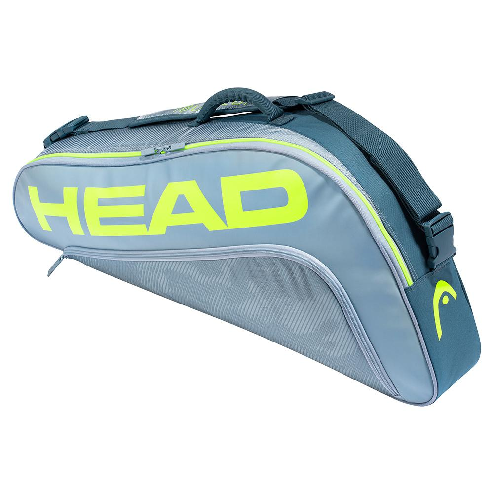 Tennisexpress Tour Team Extreme 3R Pro Tennis Bag Grey and Neon Yellow