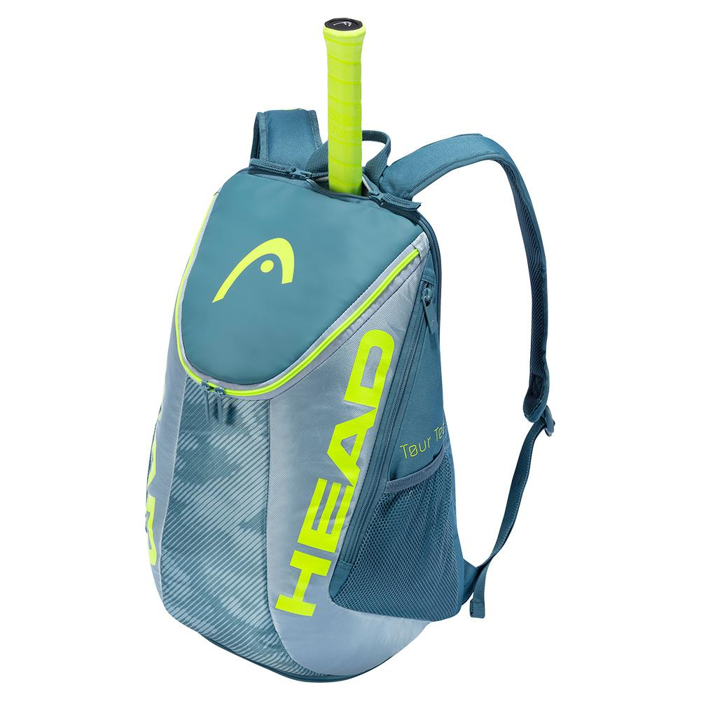 Tour Team Extreme Tennis Backpack Grey And Neon Yellow