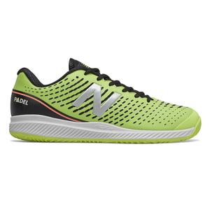 Men`s 796v2 D Width Tennis Shoes Lemon Slush and Black