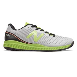 Men`s 796v2 D Width Tennis Shoes White and Lemon Slush