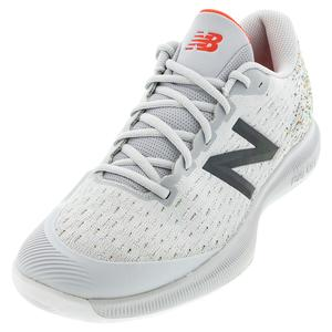 Men`s 996v4 D Width Tennis Shoes Gray and Neo Flame