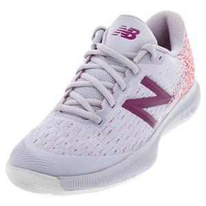 Women`s 996v4 B Width Tennis Shoes Thistle and Mulberry