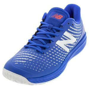 Men`s 796v2 2E Width Tennis Shoes Cobalt and Energy Red