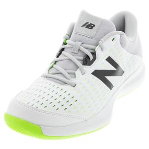 Men`s 696v4 4E Width Tennis Shoes White and Gray