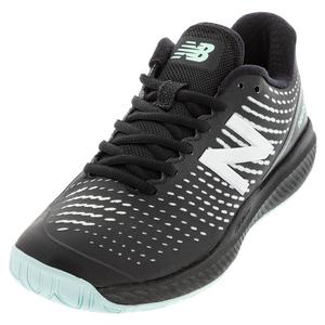 Women`s 796v2 B Width Tennis Shoes Black and Glacier