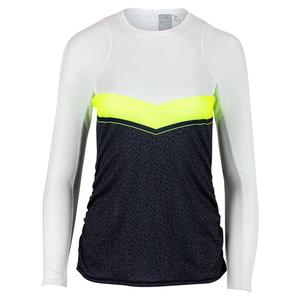 Women`s Color Block Long Sleeve Tennis Top