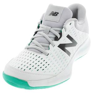 Women`s 696v4 D Width Tennis Shoes White and Gray