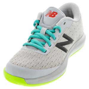 Juniors` 996v4 Tennis Shoes Gray and Energy Lime