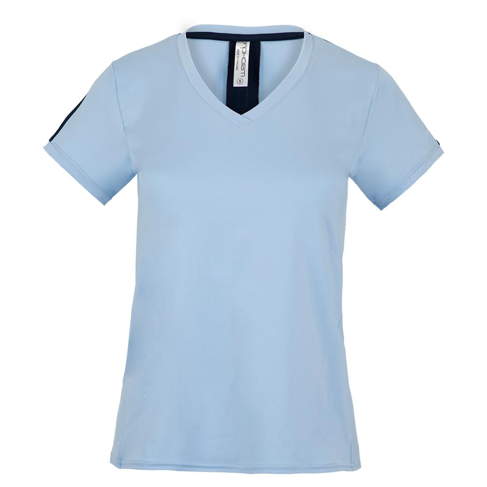 Women's New Claire V- Neck Tennis Top Prairie And Midnight