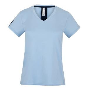 Women`s New Claire V-Neck Tennis Top Prairie and Midnight
