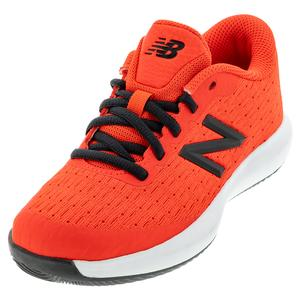 Juniors` 996v4 Tennis Shoes Neo Flame and Black