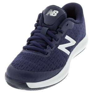 Juniors` 996v4 Tennis Shoes Navy and White