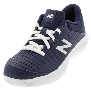 Juniors` 696v4 Tennis Shoes Navy and White