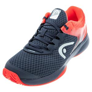 Men`s Sprint Team 3.0 Tennis Shoes Midnight Navy and Neon Red