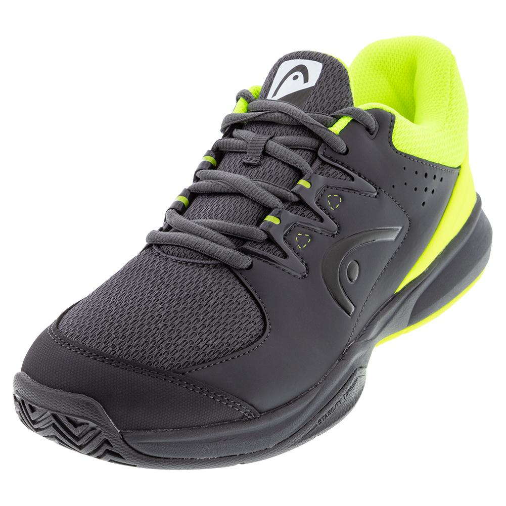 Men's Brazer 2.0 Tennis Shoes Anthracite And Neon Yellow