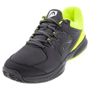 Men`s Brazer 2.0 Tennis Shoes Anthracite and Neon Yellow