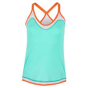 Women`s Tennis Cami Sea Breeze Pique and White