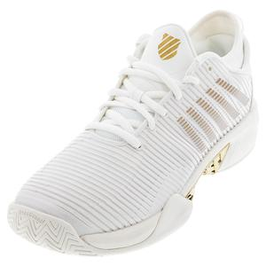 Men`s Hypercourt Supreme Tennis Shoes White Alyssum and Gold
