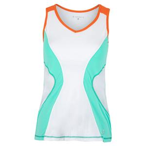 Women`s Tennis Tank Sea Breeze Pique and White