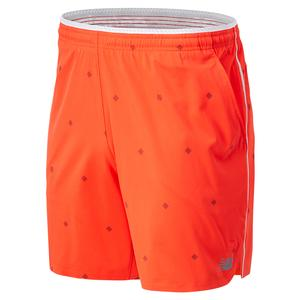 Men`s Printed Tournament Tennis Short Neo Flame