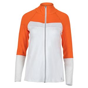Women`s Tennis Jacket Nectarine and White