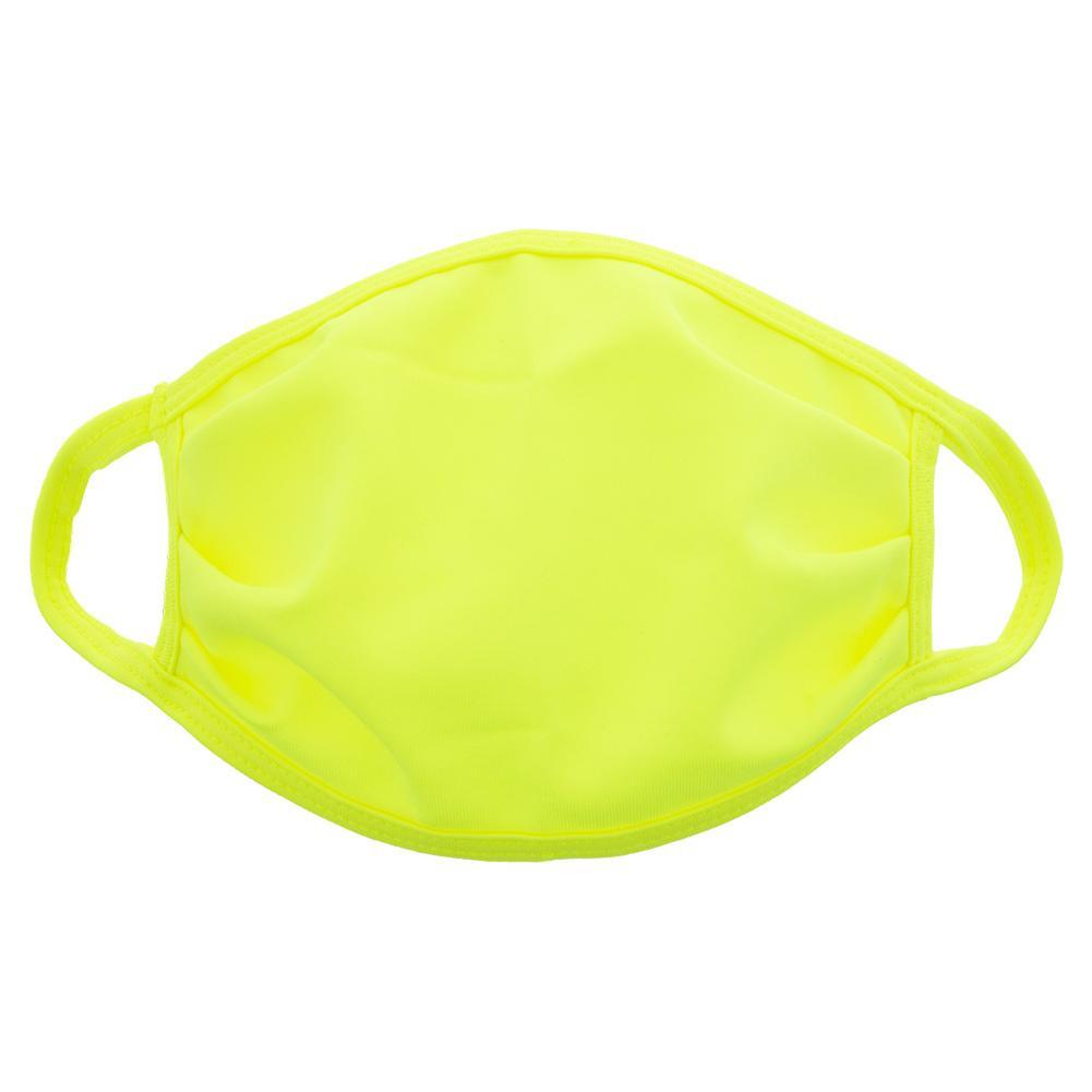 Kids ` Face Mask Neon Yellow