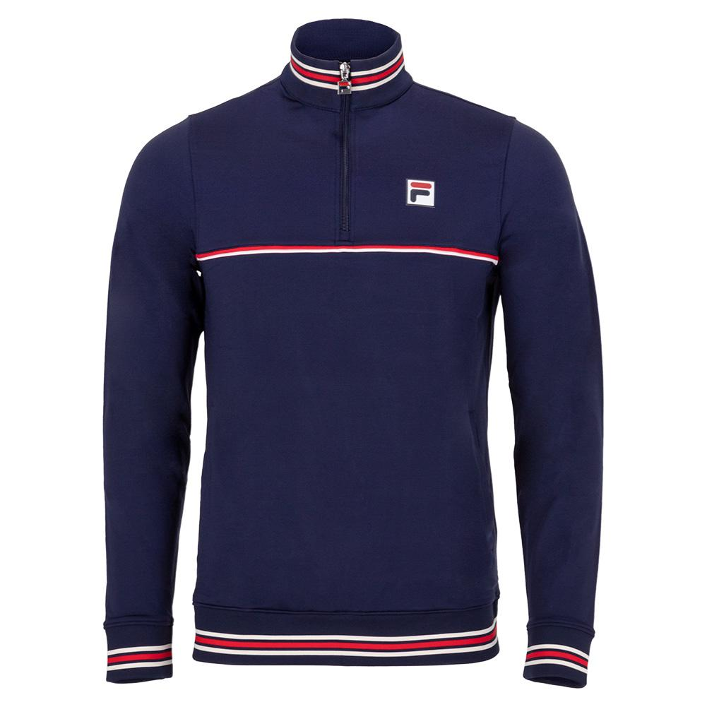 Men's Heritage 1/4 Zip Tennis Top Navy