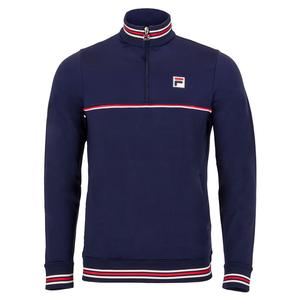 Men`s Heritage 1/4 Zip Tennis Top Navy