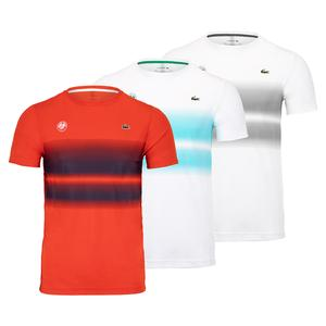 Men`s Roland-Garros Ombre Chest Print Tennis Tee