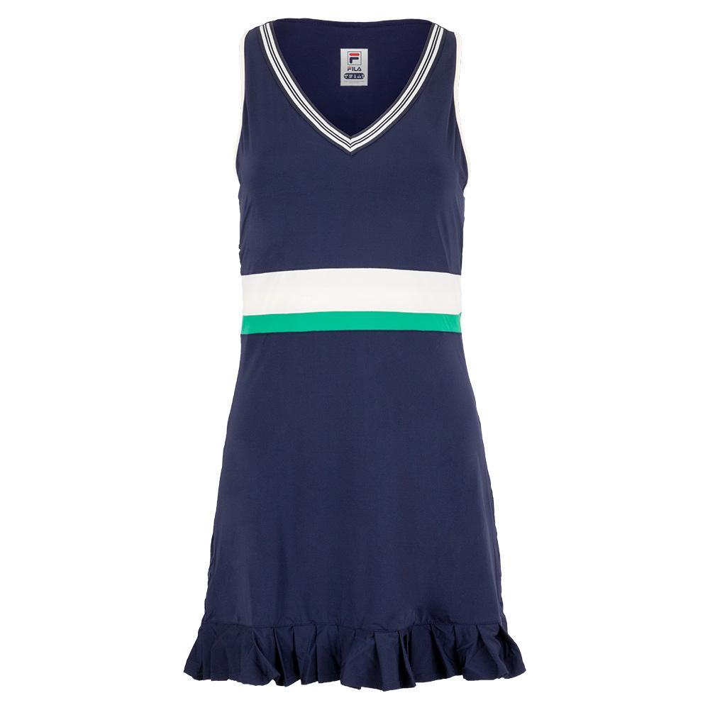 Women's Heritage Tennis Dress Navy And Ecru