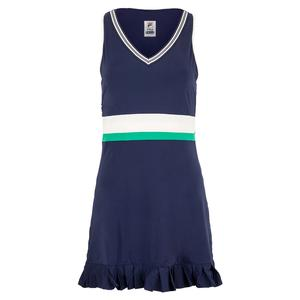 Women`s Heritage Tennis Dress Navy and Ecru