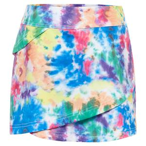 Girls` Tiered Tennis Skort White and Tie Dye