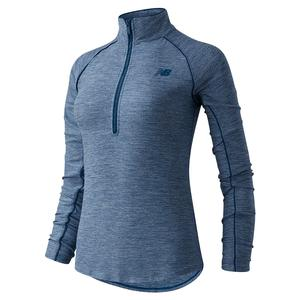 Women`s Transform Perfect 1/2 Zip Performance Top Rogue Wave Heather